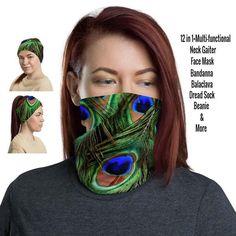 12 in 1 Multi-functional Neck Gaiter / Face Mask – Fashion Neck Gaiters #gaiter #balaclava #Peacockgaiter #stylishgaiters #womenfacemask #womengaiter #ladiesgaiterneck #neckgators #buff #neckbuff #sunprotection #summerfacemask #festivalfacemask #scarf #beanie #foulard #birdfacemask #face #cover #bandana #headband #facemask #facecovering Buy Mask, Black Neck, Balaclava, Fashion Face Mask, Head Wraps, Hair Band, Fabric Weights, Bandana, Tube