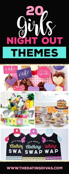 85 of the best Girls Night Out Ideas! Filled with games, activities, and recipes to take your next ladies night from drab to fab in no time at all. Games For Ladies Night, Ladies Night Party, Night Parties, Moms' Night Out, Girls Night Out, Girl Night, Girls Weekend, Night Life, Birthday Party Games