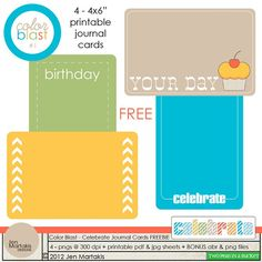 """free printable - 4x6"""" cards #ProjectLife"""
