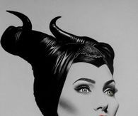 Sketch of Angelina Jolie as Maleficent