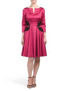 Three Quarter Sleeve Silk Dress
