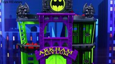 """Super Villains Attack Arkham Asylum Prison Jail! Superheroes Batman and Robin Come to Rescue Super villains Attack Arkham Asylum prison jail! Superheroes Batman and Robin in the Batcopter and Batmobile come to the rescue by ToysReviewToys. Joker with Riddler and Penguin with Two-Face overtake the Arkham Asylum jail. Batman and Robin attempt the rescue the Arkham Asylum guards but Batgirl saves the day! This video is made by the """"ToysReviewToys"""" channel in collaboration with the…"""