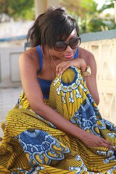 african-print-tea-tunic-dress-gorgeous against her beautiful brown skin❤