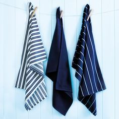 Indigo tea towels set - durable and stylish, these 100 per cent cotton tea towels are both practical and beautiful for everyday use in the kitchen.