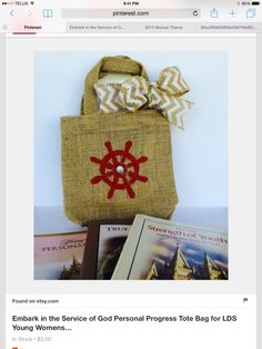 Tote bag to go with theme: holds PP, strength for youth and other youth manuals.