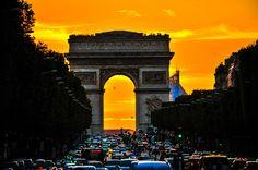Paris Golden Rush Hour by RaymondRis