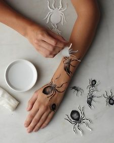 Amazing.. INKJET printer paper allows you to create your own temporary tattoos right at home! This is so great for Halloween and for kids!