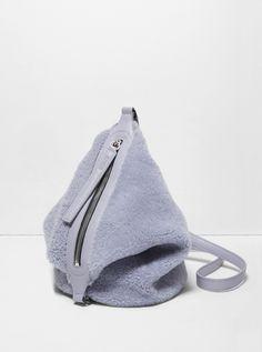 ef7ae90926 Lavender Shearling Small Dry Bag Fur Goods