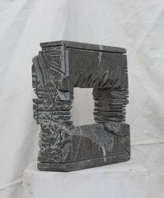 """Buy """"Portal"""", Stone sculpture by Ognyan Hristov on Artfinder. Discover thousands of other original paintings, prints, sculptures and photography from independent artists. Abstract Sculpture, Sculpture Art, Garden Sculpture, Sculptures, Soapstone Carving, Tower Design, Stone Sculpture, Artist Gallery, Simple Art"""