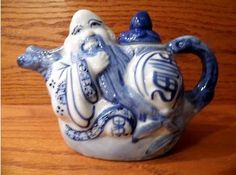 Antique and Unique Chinese Enameled Teapot.