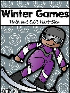 Several Winter Games freebies intended for second graders in Math and ELA!