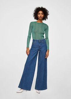 Jeans flare wideleg | MANGO