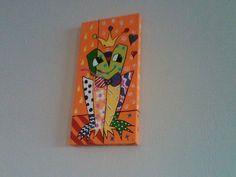 6x12 Bold Modern Graphic Romero Britto Style Canvas. $18.00, via Etsy.