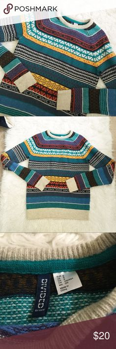 "The Perfect ""Ugly"" Sweater Knitted Literally perfect for a fall night with some cocoa and a fire! This baby is the perfect ""ugly"" sweater. Warm without being sweltering. H&M brand. Size small, but runs quite large. Could fit a M easily. No trades please. H&M Sweaters"