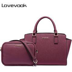 b27e4a5b1d LOVEVOOK brand women bag female handbags with large capacity ladies messenger  bag high quality PU 2 psc.