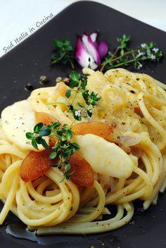 Questa sera - Spaghetti alla Chitarra con Bottarga d'Aringa - http://blog.giallozafferano.it/suditaliaincucina/spaghetti-bottarga-aringa/