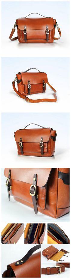 Vintage Leather Bag, Messenger Bag, Shoulder Bag, Leather Briefcase, Fashion Laptop Bag