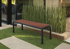 Montego Modern Indoor-Outdoor Bench - Modern Outdoor Benches & Ottomans - Modern Outdoor Furniture - Room & Board