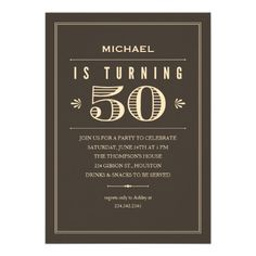 50th Birthday Invitations For Men 60th Party 70th Parties