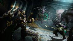 Warcraft Fan Art Gallery - Warden Vs. Night Elf Demonhunters - World of Warcraft Legion