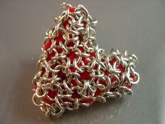 Chain Maille Heart Keepsake