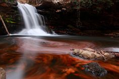 Fiery Autumn Waterfall by Nature Pictures by ForestWander, via Flickr
