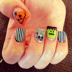 halloween ghost coloring pages | Halloween Nail Art Idea #12: Zombies in Jail