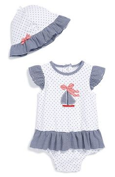 Little+Me+Ruffle+Dress+&+Sun+Hat+(Baby+Girls)+available+at+#Nordstrom