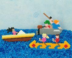 Boats Afloat perler beads pattern - Perler®