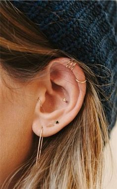 Tragus piercings | an oldie but a goodie. Shop our tragus collection: http://www.freshtrends.com/cgi-bin/category/tragus-body-jewelry