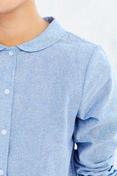 Cooperative Peter Pan Collar Button-Down Shirt