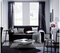 canap 3 places erika cuir massif et croute de cuir noir prix promo canap pas - Salon Avec Canape Noir