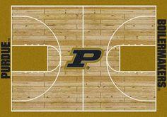 Purdue Rug University Basketball Court