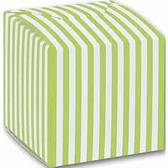 Green Striped Paper Boxes, 2 x 2 x 2