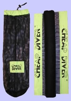 Cheap Diver- boat bottom cleaner. This lightweight, durable mesh material will scrub and clean the grime off of your boat after a night at the dock. This is perfect for those multi-day races. ~GWS