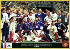 1998 World Cup Winners - France. Fifa World Cup France, 1998 World Cup, World Cup Champions, World Cup Winners, Fan Picture, World Cup Final, Finals, Thierry Henry, Soccer