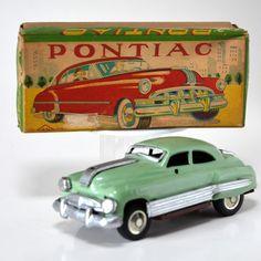 Ultra-rare Vintage Japanisch 1963 Chevrolet Stingray Batteriebetrieben Blech Spielzeug