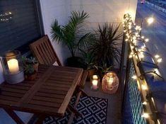 64 ideas apartment patio ideas balconies terraces outdoor furniture for 2019 - Garden & Patio - Balcony Furniture Design Small Outdoor Patios, Outdoor Balcony, Small Patio, Backyard Patio, Outdoor Decor, Balcony Ideas, Patio Ideas, Cozy Patio, Balcony Plants