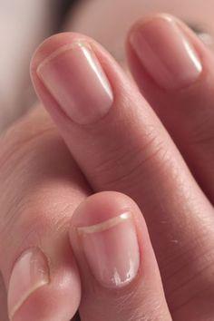 Caring for fingernails.