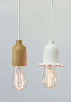 Lamps from Shine labs, on remodelista. I'm digging the one on the left.