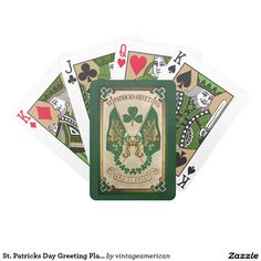 St. Patricks Day Greeting Playing Cards