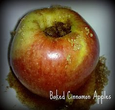 Baked Cinnamon Apples Recipe- a delicious snack! And you probably have everything you need to make it on-hand right now. :)
