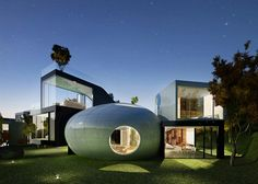 Cocoon House by Planning Korea, Futuristic Home, Jeju Island, South Korea