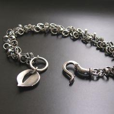 Image of Chainmail Leaf Bracelet