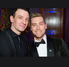 JC Chasez and Lance Bass at Lance Bass's Wedding