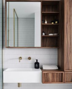 Have a look at this luxurious bathroom by  We don't know where to begin.the custom walnut cabinetry, the gorgeous kit kat… Classic Home Decor, Cute Home Decor, Cheap Home Decor, Bathroom Inspiration, Home Decor Inspiration, Decor Ideas, Living Tv, Target Home Decor, Arquitetura