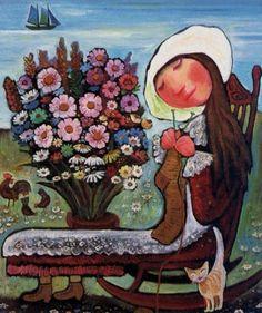 Tricoteuse Au Bouquet by Neree de Grace