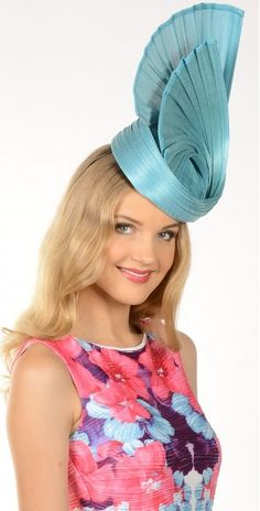Aqua Melbourne Cup Fashion, Blue Fascinator, Wedding Fascinators, Wedding Cups, Aqua, Turquoise, Formal, Preppy, Water