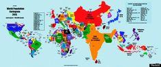 Ο πληθυσμός της γης σε ένα χάρτη