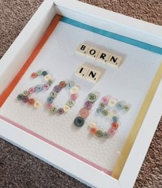 born in 2015 frame new baby gift choice of colours by Waystosay